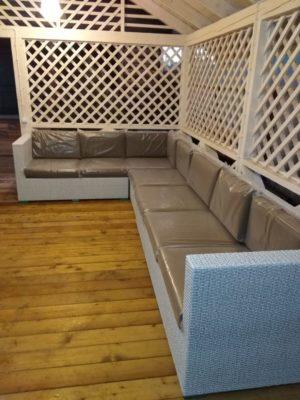 Плетеная мебель Louisiana модульный диван