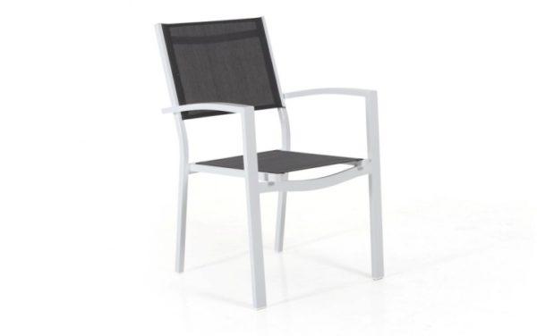 """Фото - Кресло из текстилена ""Leone"" белый/серый"""