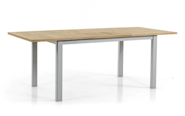 "Фото - Стол садовый из тика ""Lyon"" 152/210 серый Brafab"