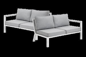 фото-Belfort white садовый диван окончания