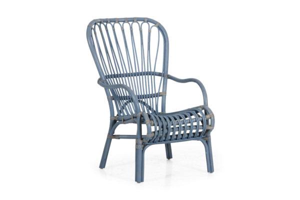 """Фото - """"Кресло из ротанга """"Aldorassa"""" синий цвет Швеция"""""""