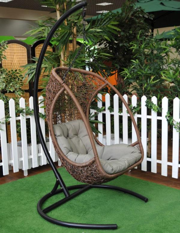 """""""Картинка - Подвесное кресло Albatros цвет коричневый ротанг"""""""