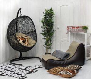 """""""Подвесное кресло Lunar Black картинка"""""""