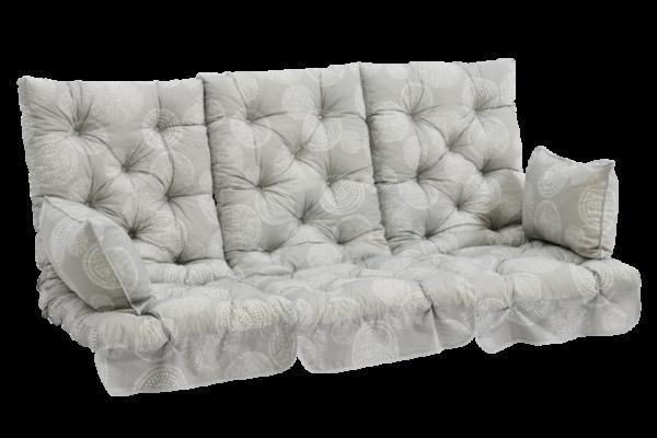 фото-Softa подушки на трехместные качели серые