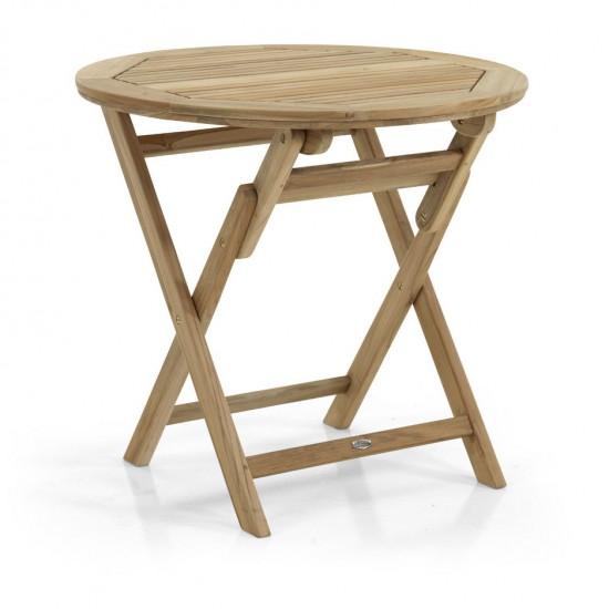 фото-Стол садовый из тика Turin d 80