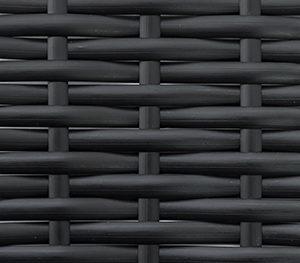 Фото - Ротанг искусственный черный плоский гладкий