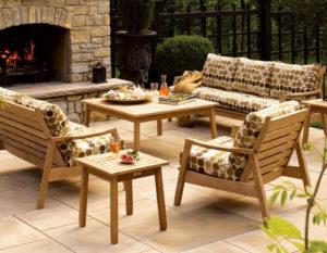 Садовая мебель из тика комплекты