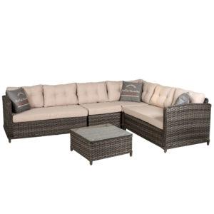 Плетеная мебель Palermo Azzura Голландия - диван модульный плетеный
