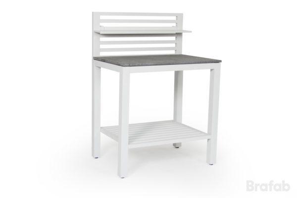 """Стол ""Bellac"" - летняя кухня модуль. Цвет - белый. """
