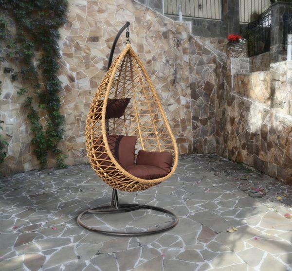 """""""Плетеное подвесное кресло Aura - фото в интерьере"""""""