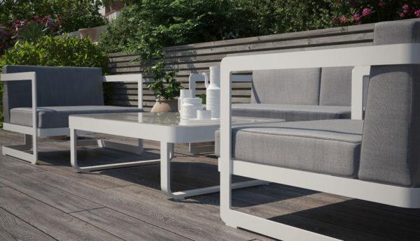 VILLINO white greyGARDENINI Садовая мебель для террасы