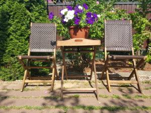 Фото -Плетеная мебель «Ever - ton brown»плетеная деревянная мебель патио тон коричневый.