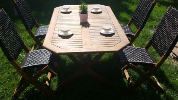 """Фото -Плетеная мебель обеденная группа """"Ever ton brown"""" 4 персоны"""