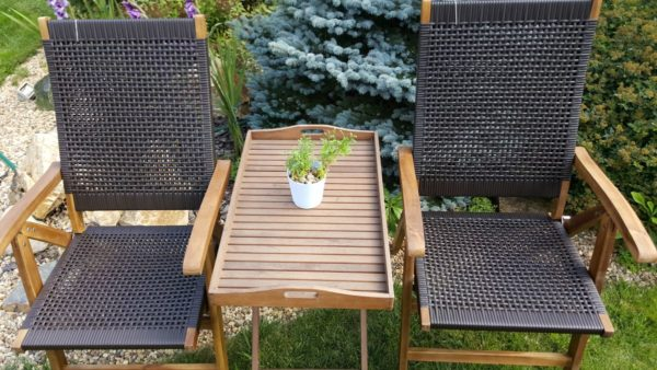 Фото -Искусственный ротанг мебель Ever-ton brown Tea Set
