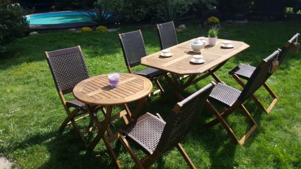 Фото -Комплект садовой мебели Ever-ton brown 4+2