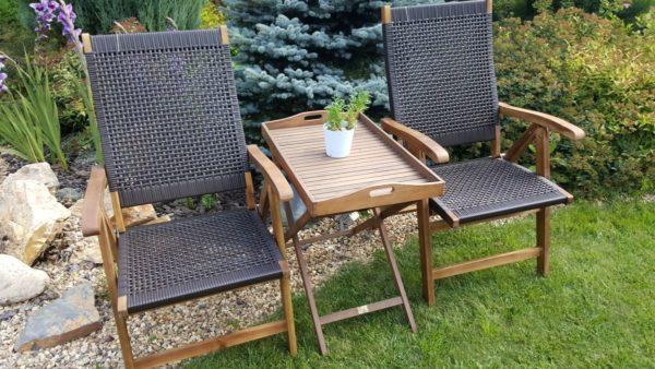 Фото -Плетеная деревянная мебель Ever-ton brown Tea Set Brafabrrika