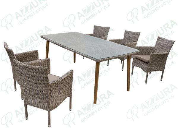 """Фото -Плетеная мебель """"Capri + Arosa"""" Azzura столовая"""