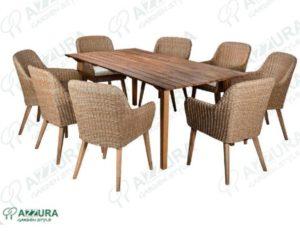 Плетеная мебель Coco&Andorra садовая обеденная группа