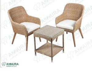 Фото -Плетеная мебель Coco+ Howard Azzura кофе сет