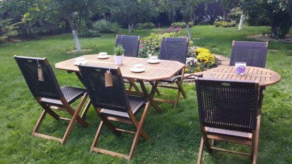 Фото -Плетеная мебель деревянная Ever-ton brown 4+2