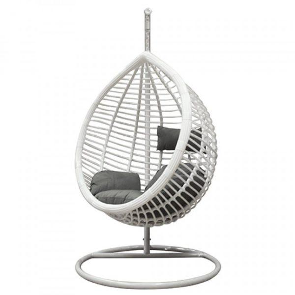 Фото -Подвесное кресло из ротанга Shade 0021 средняя белая корзина