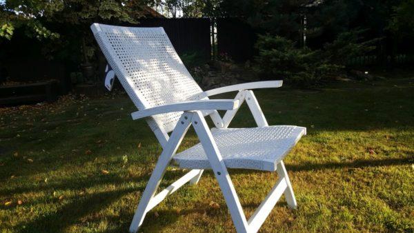 """Фото -Кресло плетеное """"Dream"""" white. Европейская мебель класса Otdoor. Обеденное раскладное кресло из ротанга искусственного белый цвет."""