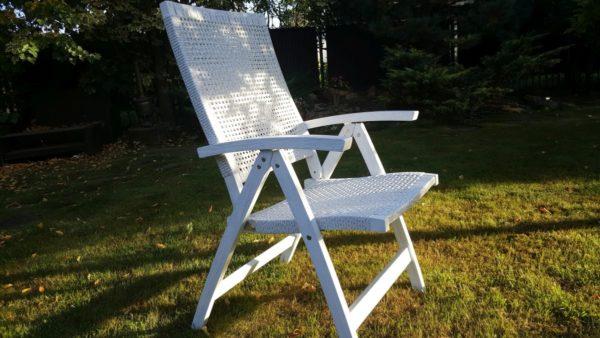 """Фото -Кресло плетеное """"Dream"""" white. Европейская мебель класса Otdoor.Обеденное раскладное кресло из ротанга искусственного белый цвет."""