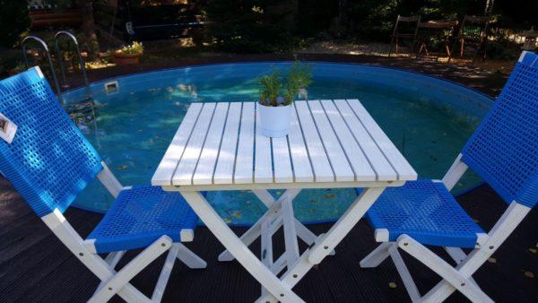 Фото -Мебель для кафе ротанг Arizona Dream синий цвет