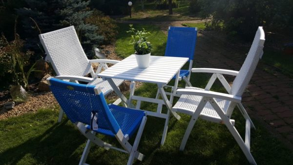 Фото - Мебель садовая из ротанга Arizona Dream mix white blue