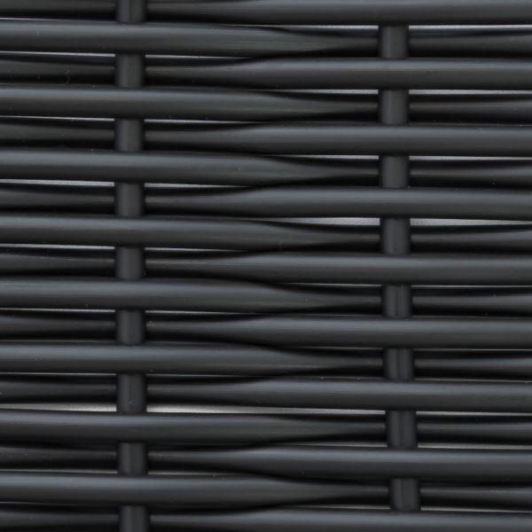 Фото - Искусственный ротанг черный круглый