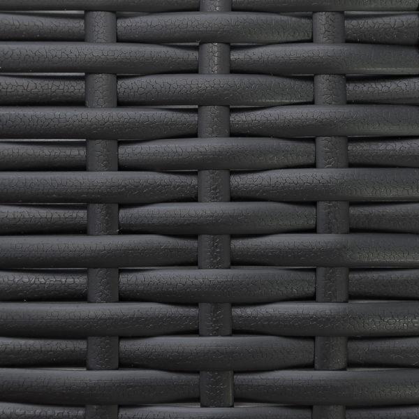 Фото - Искусственный ротанг черный кожа