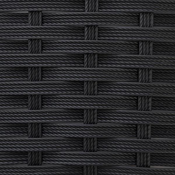 Фото-Искусственный ротанг черный текстура полоска