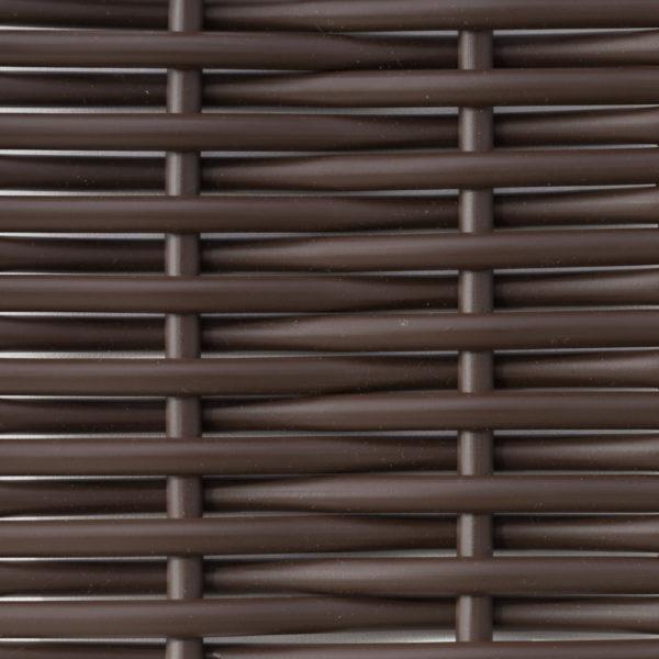 Искусственный ротанг шоколад круглый