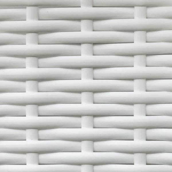 Фото - Искусственный ротанг белый гладкий
