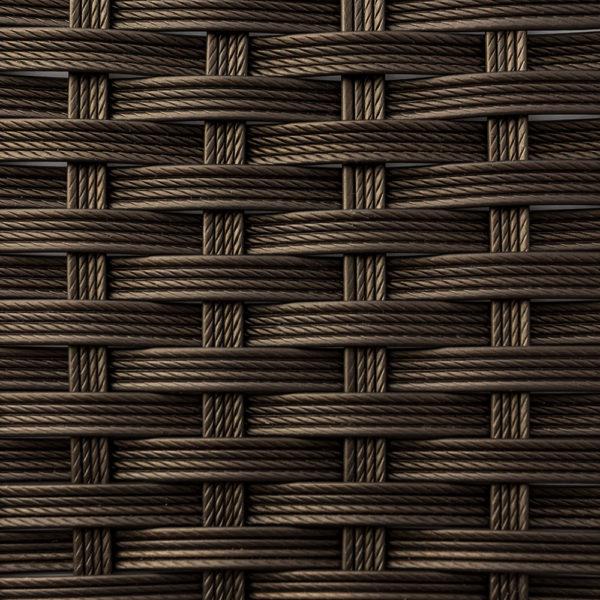 Фото-Искусственный ротанг шоколад текстура полоска