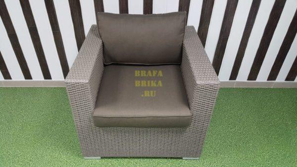 Фото - Плетеное кресло из ротанга Louisiana мокко