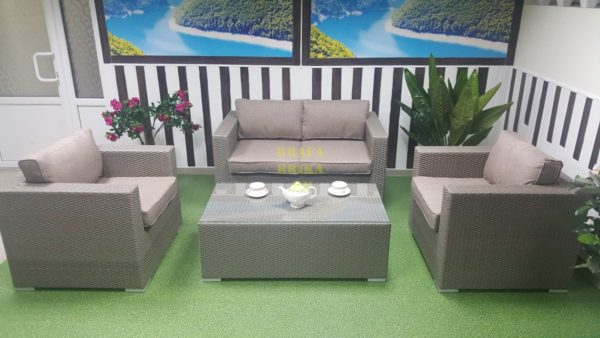 Фото - Комплект мебели из ротанга Louisiana Lounge mocco