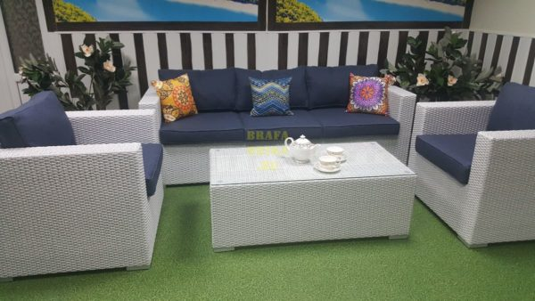 Фото - Комплект мебели на таррасу Louisiana white&blue