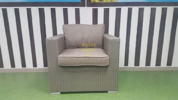 Фото - Кресло из искусственного ротанга Louisiana mocco beige