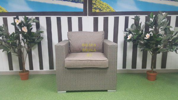 Фото - Кресло садовое из искусственного ротанга Louisiana mocco beige