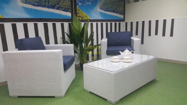Фото - Плетеная белая мебель Louisiana cafe set