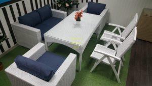 Фото-Плетеная мебель Dream white&blue