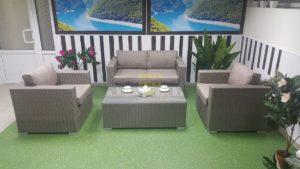 Фото - Плетеная мебель Louisiana Lounge mocco