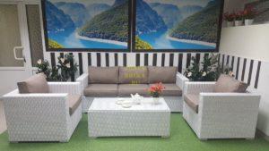 Фото - Плетеная мебель Louisiana white&beige