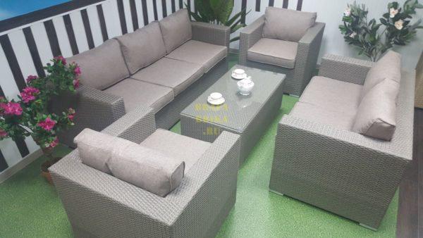 Фото - Плетеная мебель из искусственного ротанга Louisiana patio set mocco