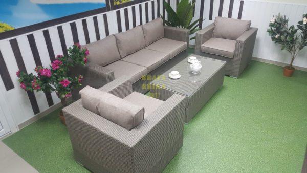 Фото - Плетеная мебель из ротанга Louisiana mocco