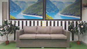 Фото - Плетеный диван Louisiana mocco 3-х местный