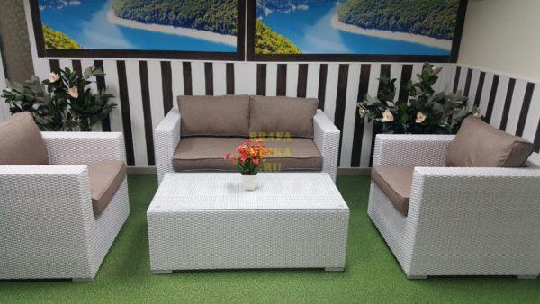 Фото - Садовая мебель Louisiana lounge white beige