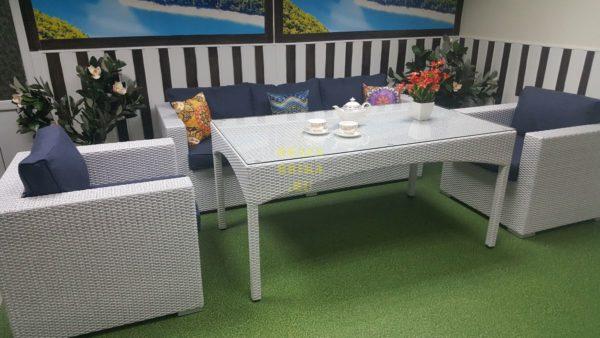 Фото-Столовая мебель из ротанга Louisiana dining lounge set