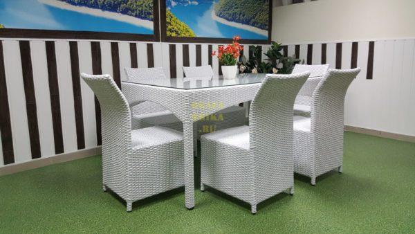 Фото-Искусственный ротанг мебель Rose white
